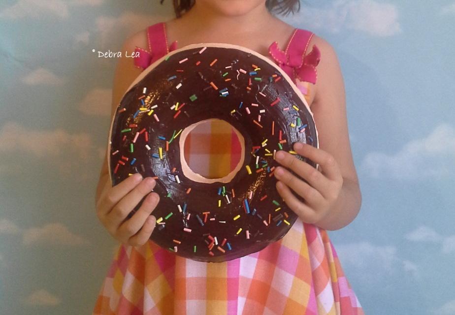 GIANT Faux Donut Fake Doughnut DARK Chocolate with ...